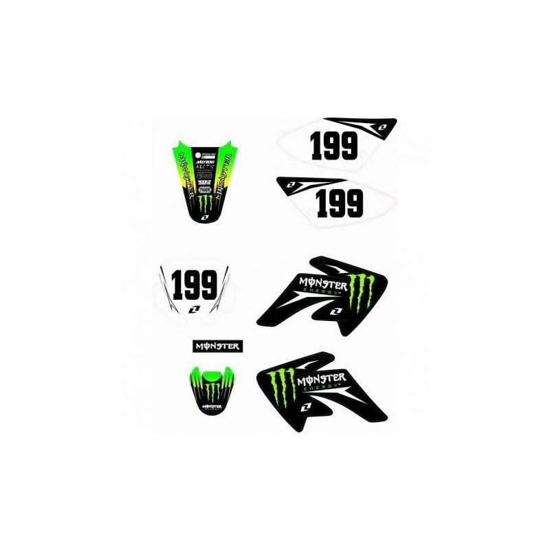 Adesivi Per Carena Pit Bike CRF 70 Grafiche Monster BSE cross minicross
