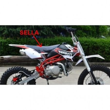SELLA PIT BIKE SCORPION cross minicross pelle imbottita seduta moto