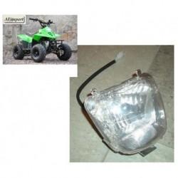 """FANALE QUAD ANTERIORE ATV 110 6"""" predator bamboo - miniquad con ruote luce"""