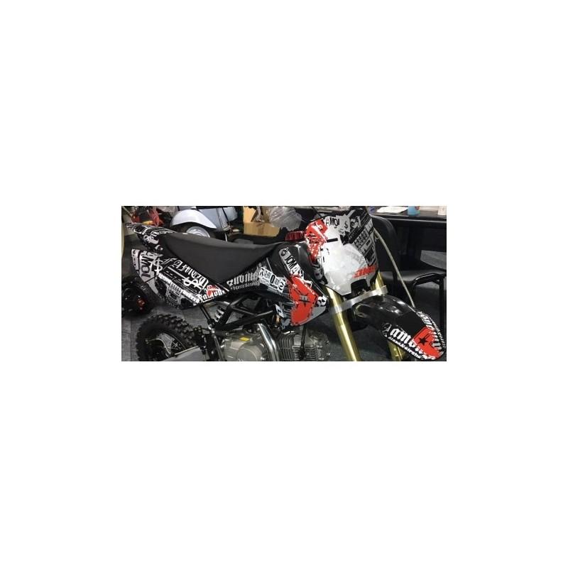 Adesivi GOTICI Per Carena Pit Bike CRF 70 Grafiche BSE cross minicross
