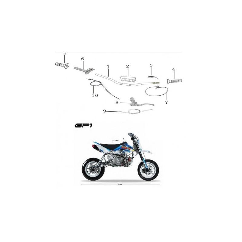 SPUGNA PROTEZIONE MANUBRIO BASSO MOTARD KAYO GP1 RACING - pit bike stradale minimoto paracolpi
