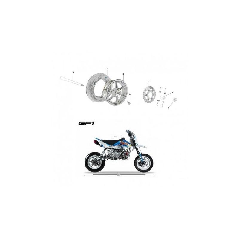 DISCO FRENO ANTERIORE 22cm SUPERMOTO GP1 KAYO MOTARD RACING - pit bike stradale minimoto