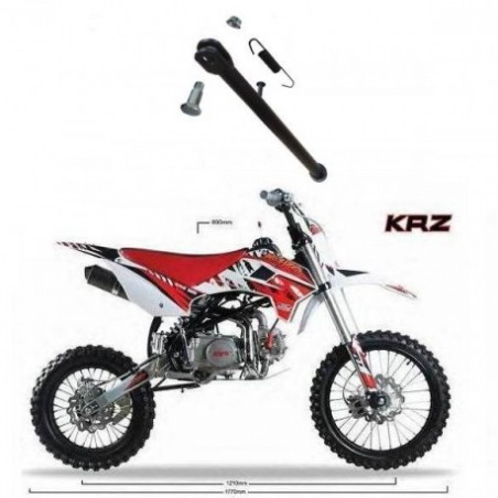 CAVALLETTO KRZ 125 PIT BIKE KAYO RUOTE 17-14 MOLLA LATERALE