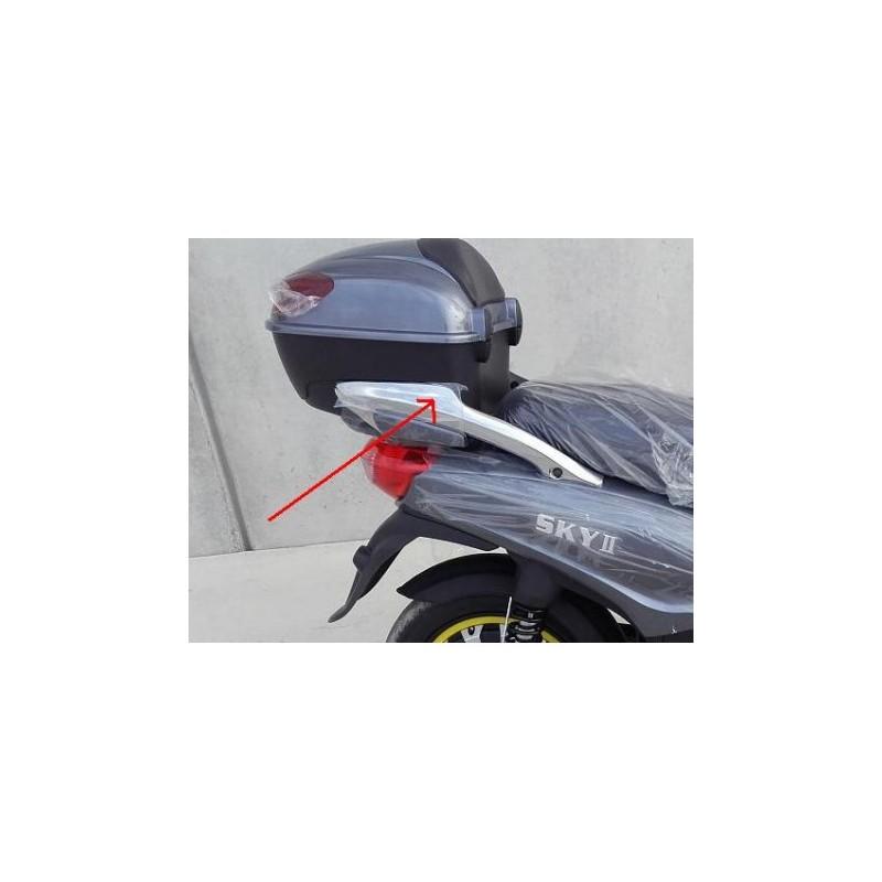 COPPIA PLASTICHE CROMATE LATERALI PORTAPACCHI POSTERIORE - bici elettrica scooter sky II tipo z-tech