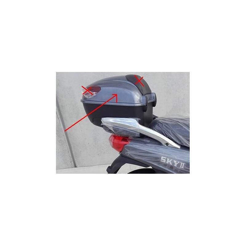 PLASTICA SUPERIORE PORTAPACCHI BAULETTO POSTERIORE - bici elettrica scooter sky II tipo z-tech