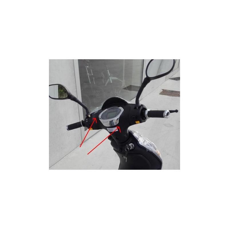 PLASTICA SUPPORTO CONTAKM E TASTI - bici elettrica scooter sky II tipo z-tech