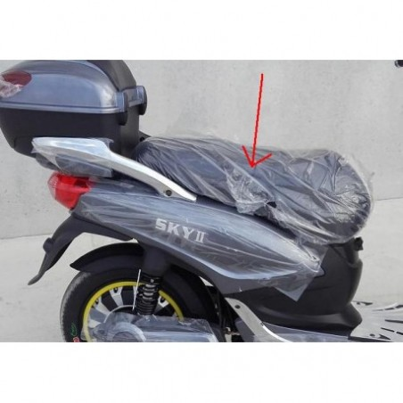 SELLA IN PELLE NERA - bici elettrica scooter sky II tipo z-tech