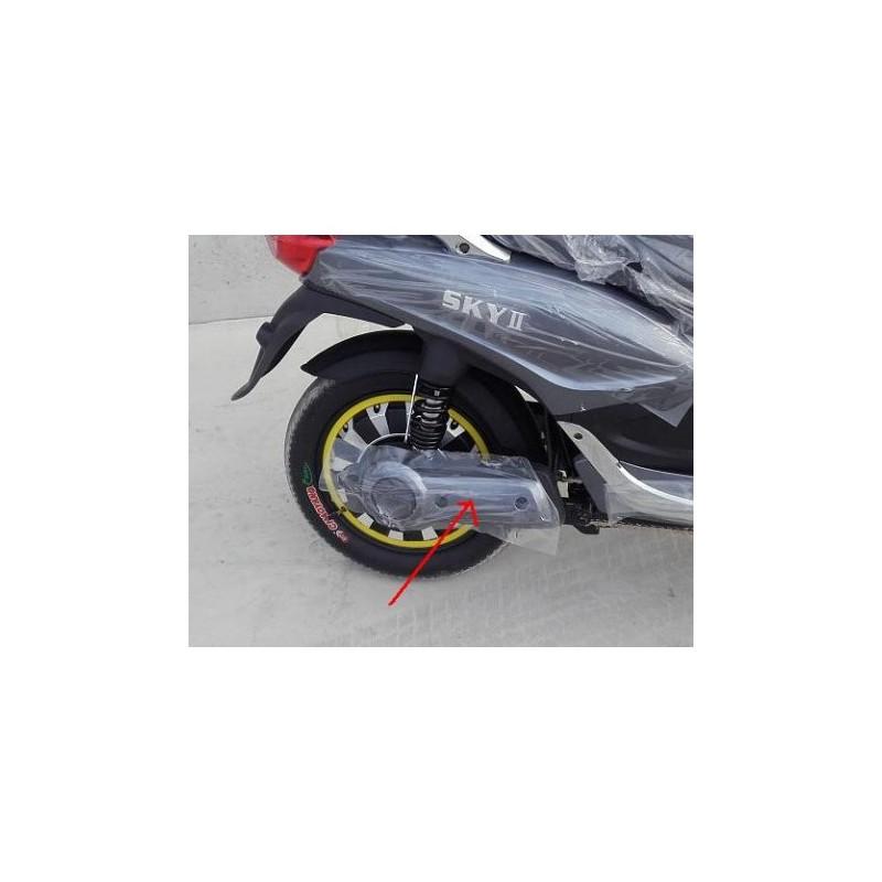 COPPIA PLASTICHE COLORATE POSTERIORI COPRI FORCELLONE - bici elettrica scooter sky II tipo z-tech