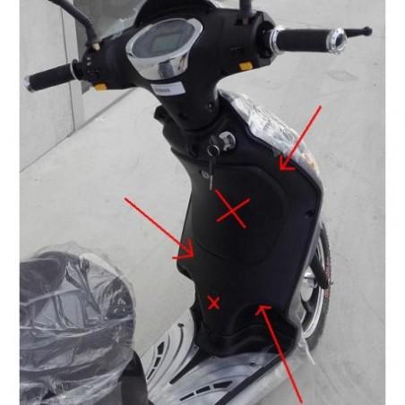 PLASTICA NERA ANTERIORE RETRO SCUDO - bici elettrica scooter sky II tipo z-tech
