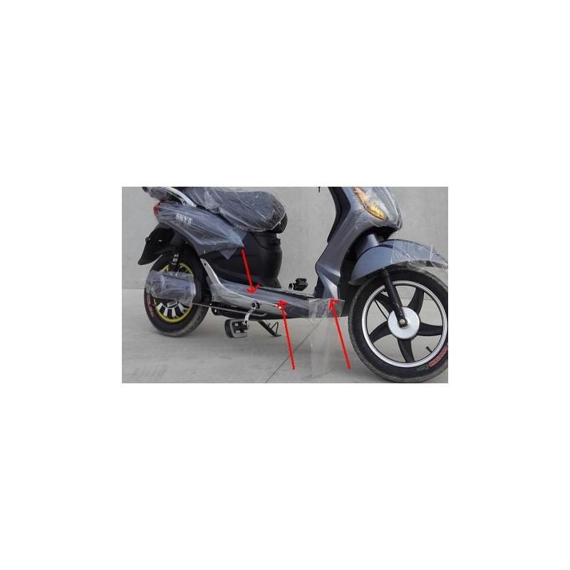 COPPIA PLASTICHE COLORATE SOTTO PEDALI LATERALI - bici elettrica scooter sky II tipo z-tech
