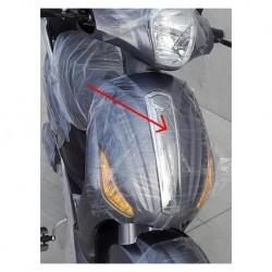 PLASTICA CROMATA FRONTALE DELLO SCUDO ANTERIORE - bici elettrica scooter sky II tipo z-tech