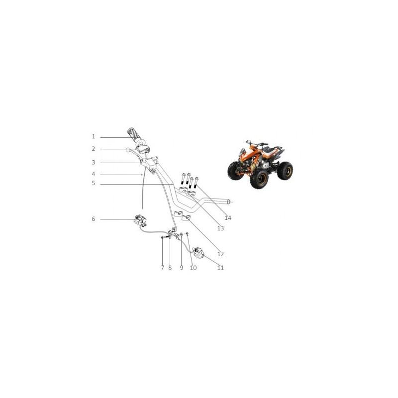 MANUBRIO QUAD 125 SPORT - miniquad atv