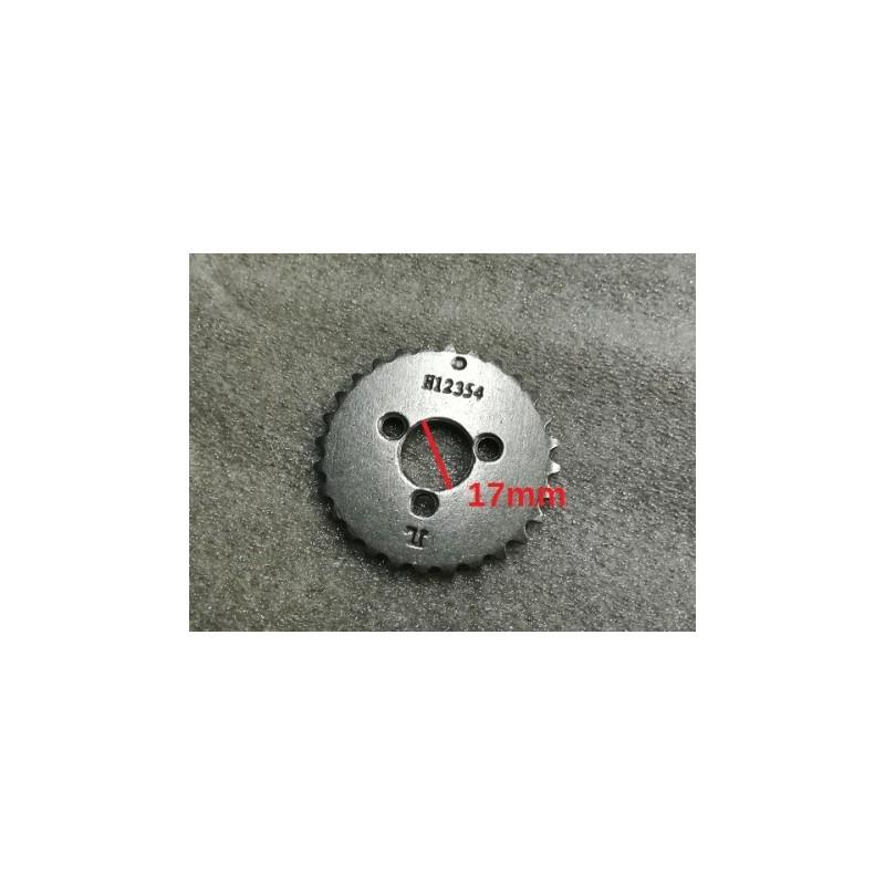Puleggia Pignone 28T di distribuzione motore in acciaio C70 temprato KAYO PREDATOR 110