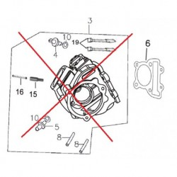 GUARNIZIONE TESTA YX 170cc - blocco motore pit bike krz 170 kayo 4 tempi
