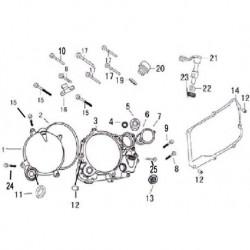 CARTER COPRI FRIZIONE 170cc + GUARNIZIONE - blocco motore pit bike krz 170 kayo 4 tempi
