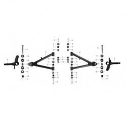 01cp PERNI RUOTA ANTERIORI QUAD KAYO SPACE AY70 - miniquad 70cc 4 tempi perno mozzo