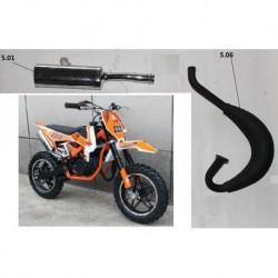 MARMITTA MINICROSS FALCO - espansione + silenziatore minimoto cross 2 tempi 49cc