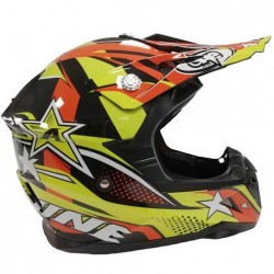 CASCO ONE OFF ROAD STAR COLORE GIALLO/ARANCIO TG. M