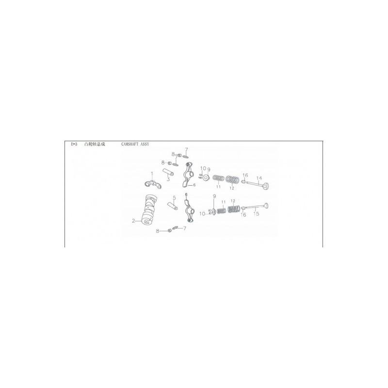 kit valvole cilindro blocco motore 140cc