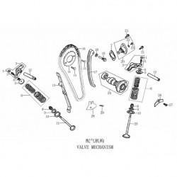 set valvole e kit di distribuzione quad kayo tor 250cc