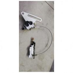 Kit posteriore freno completo K2 cross kayo leva pompa tubo pinza pastiglie