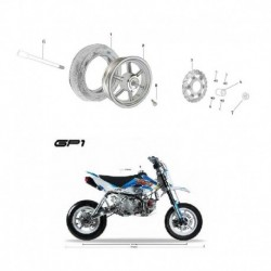 DISCO FRENO ANTERIORE 22cm SUPERMOTO GP1 KAYO MOTARD RACING - pit bike stradale minimoto