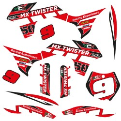 KIT GRAFICHE NCX MX TWISTER PRO ROSSO IN PVC 55 micron
