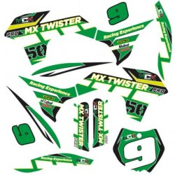 KIT GRAFICHE NCX MX TWISTER PRO VERDE IN PVC 55 micron