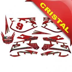 KIT GRAFICHE NCX MX TWISTER ROSSO IN CRISTAL