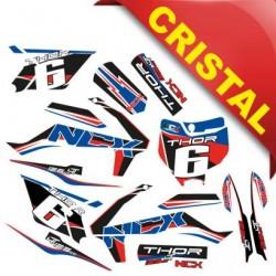 KIT GRAFICHE NCX THOR 125cc 14/12 ROSSO / BLU IN CRISTAL