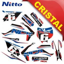 KIT GRAFICHE NCX THOR 125cc 14/12 ROSSO / BLU IN CRISTAL NITTO ®