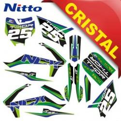 KIT GRAFICHE NCX THOR 125cc 14/12 VERDE IN CRISTAL NITTO ®