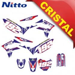 KIT GRAFICHE NCX CRX 125cc 17/14 BLU / ROSSO IN CRISTAL NITTO ®
