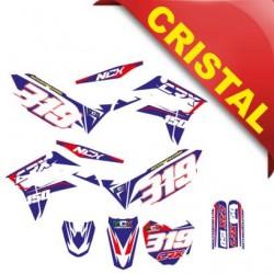 KIT GRAFICHE NCX CRX 150cc 17/14 BLU / ROSSO IN CRISTAL