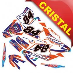 KIT GRAFICHE NCX THOR 125cc 17/14 ARANCIO / BLU / NERO IN CRISTAL