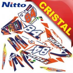 KIT GRAFICHE NCX THOR 125cc 17/14 ARANCIO / BLU / NERO IN CRISTAL NITTO ®