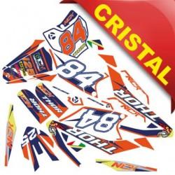 KIT GRAFICHE NCX THOR 125cc 17/14 ARANCIO / BLU IN CRISTAL