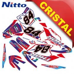 KIT GRAFICHE NCX THOR 125cc 17/14 ROSSO / BLU IN CRISTAL NITTO ®