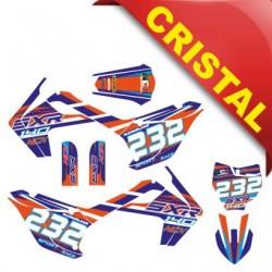 KIT GRAFICHE NCX SXR 140cc 17/14 ARANCIO / BLU IN CRISTAL