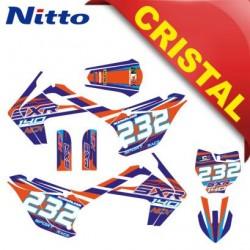 KIT GRAFICHE NCX SXR 140cc 17/14 ARANCIO / BLU IN CRISTAL NITTO ®